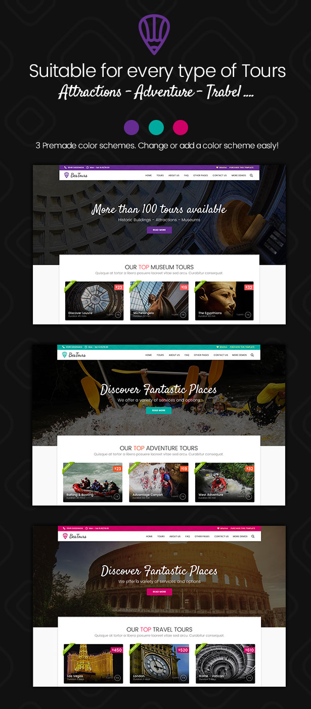 BESTOURS - Tours, Excursions and Travel template