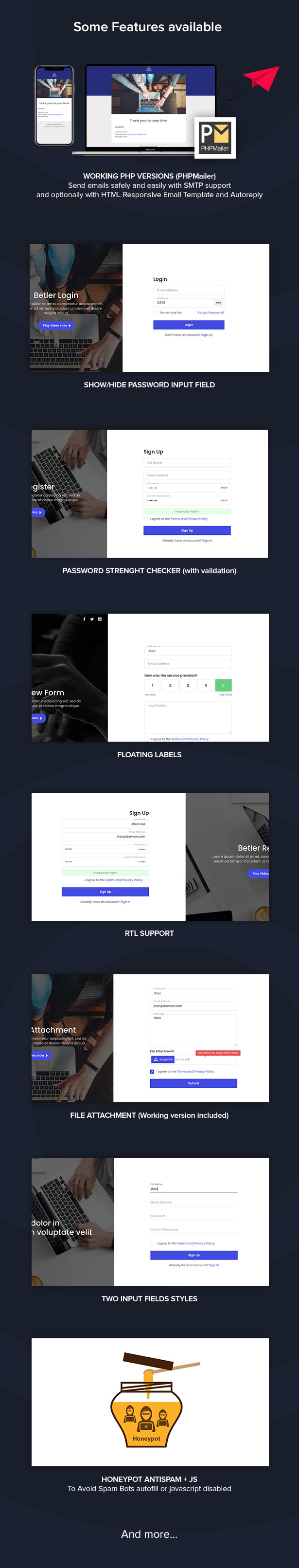 Betler Multipurpose Forms HTML Template
