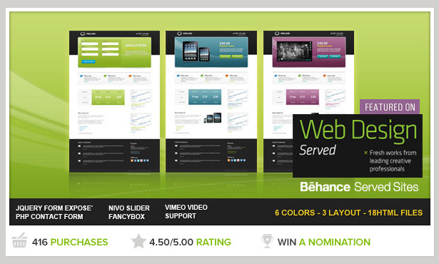 Oneland Landing page