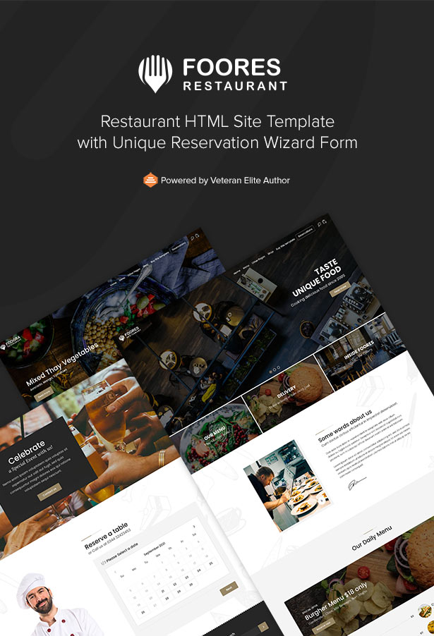 Foores - Restaurant Site Templater