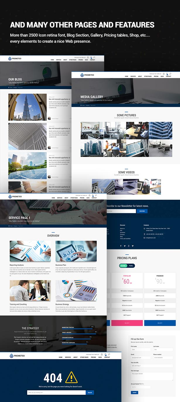 Business, Financial and Consulting Site Template